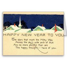 Happy New Year 1915 Vintage Greeting Card   Zazzle