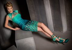 Hard to tell which I like more--the dress or the shoes  Blanka Matragi Haute Couture 2012