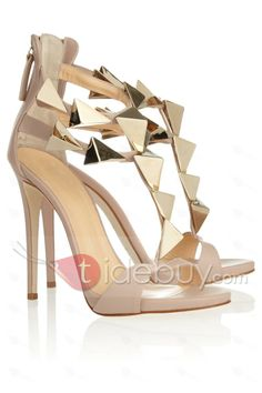 Sky high: stilettos for the party season: Giuseppe Zanotti studded leather sandals Women's Shoes, Cute Shoes, Me Too Shoes, Shoe Boots, Gold Shoes, Glitter Shoes, Prom Shoes, Dress Shoes, Stilettos