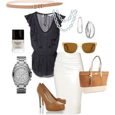 sophisticated summer brunch, created by lynstemmerman on Polyvore
