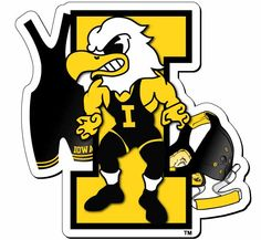 Iowa Hawkeyes Wrestling | hawkeye wrestling magnet iowa wrestling magnet with herky singlet and ...
