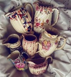 Antique Dishes, Vintage Dishes, Antique China, Vintage China, Porcelain Ceramics, Porcelain Dinnerware, Painted Porcelain, Kitchen Dishes, Vintage Plates