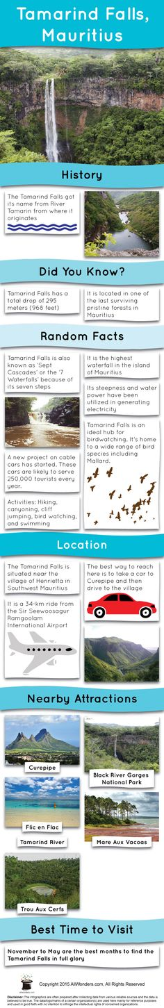 Tamarind Falls is the tallest waterfall and one of the most prominent scenic attractions of the island of Mauritius. Mauritius Honeymoon, Mauritius Travel, Island Nations, Africa Travel, Beautiful Islands, Holiday Destinations, Oh The Places You'll Go, Where To Go, Traveling By Yourself