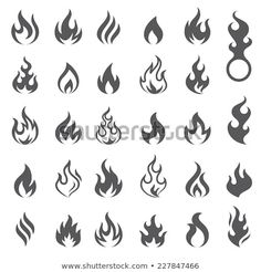 set of 29 flame and fire vector icons. Vector file is fully layered Big set of 29 flame and fire vector icons. Vector file is fully layered - -Big set of 29 flame and fire vector icons. Vector file is fully layered - - Smal Tattoo, Kritzelei Tattoo, Tattoo Drawings, Tattoo Forearm, Tattoo Sketches, Mini Tattoos, Body Art Tattoos, Tatoos, Bracelet Tatoo