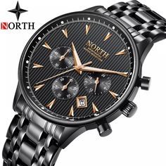NORTH New Quartz Watches Men Top Brand Luxury Watch Men Fashion Casual Sports Watches Waterproof Clock Male Relogio Masculino Sport Watches, Cool Watches, Luxury Watches For Men, Sport Casual, Automatic Watch, Fashion Watches, Watch Bands, Quartz Crystal, Omega Watch
