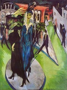 Caffè Artistico   : Ernst Ludwig Kirchner, Potsdamer Platz, 1914.