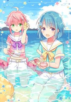 tori and hajime enstars 5 Anime, Anime Angel, Anime Chibi, Anime Guys, Friend Anime, Anime Best Friends, Manga Kawaii, Kawaii Anime Girl, Anime Girl Cute