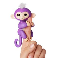 Say Hi to Mia! She is a curious and energetic little monkey. She is so excited to discover the big world around her.   You can find her at https://retrobonus.com/ #Fingerlings #Monkey #FingerMonkey #Toys #Fun #Cute #MomLife #Kids #Christmas #Awesome