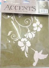 Hummingbird & Flowers Decorative Stencil by Delta