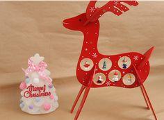 Zakka雜貨網: 木作聖誕裝飾-麋鹿(紅) / 設計文創購物網站 / 創意禮品集散地