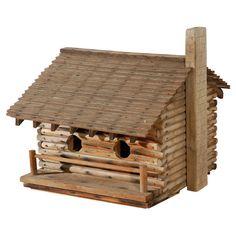 Résultat d'images pour Log Cabin Bird Houses with Chimney