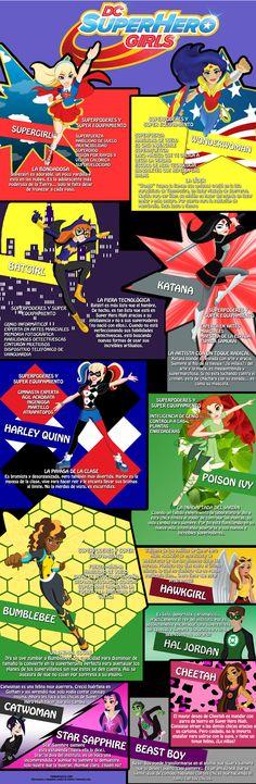 infografia dc superherogirls