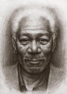 Freeman by *JW-Jeong on deviantART #Art #CelebrityArt  #MorganFreeman