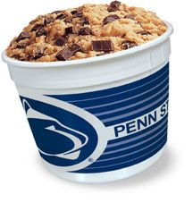 2.5 lb. collectible Penn State Nittany Lion cookie dough tub.