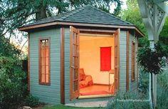 Backyard retreat woman cave art studios 15 Ideas for 2019 Backyard Guest Houses, Backyard Cabin, Backyard Office, Backyard Studio, Backyard Sheds, Backyard Retreat, Garden Sheds, Garden Playhouse, Garden Office