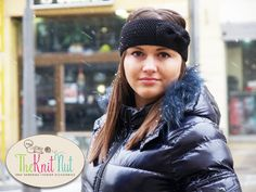 ❤★ SALE! Knitted Bow Headband, #Black Bow Ear Warmer, Women's Winter A... http://etsy.me/2gtvehu
