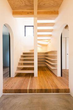 Stauraum-Lösung für offene Treppe