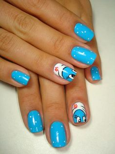 The Smurf nails !!! Dying !!!