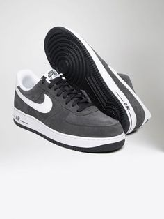 sale retailer 05fd6 233f4 Nike Air Force 1 Charcoal Solid Suede 07