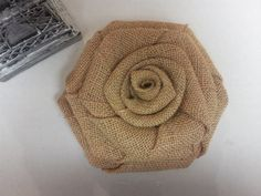 Burlap Cake Topper Large Burlap Flower Burlap by GooGooFlowers