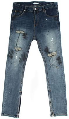 The product Vintage Effect Zippered Hem Ripped Slim Blue Jeans Streetwear Denim is sold by SNEAKERJEANS STREETWEAR SHOP & SNEAKERS SHOP in our Tictail store. Tictail lets you create a beautiful online store for free - tictail.com