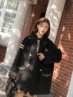 Harajuku Fashion, Kawaii Fashion, Fashion Outfits, Blouse And Skirt, Plaid Jacket, Fashion Updates, College Fashion, Korean Outfits, School Uniform
