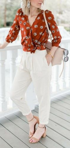 24 Cute Summer Business Casual Women's Outfits Ideas - lmolnar - Outfits for Work - Business Outfits for Work Casual Work Outfits, Professional Outfits, Work Casual, Boho Outfits, Stylish Outfits, Fashion Outfits, Smart Casual Outfit Summer, Boho Work Outfit, Floral Outfits
