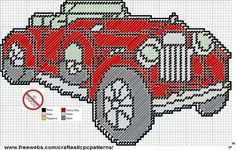 VINTAGE AUTOMOBILE 1 WALL HANGING by CraftasticPcPatterns