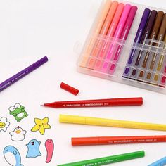 12X Colors Wooden Pencils Pen Drawing For Kids Student Sketching Gift Set 8cm RS