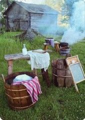 Very long time ago folks washed their laundry like this Laundry Day & Finnish Countryside (old times) History Of Finland, Back Road, Summer Kitchen, Story Inspiration, Retro Design, Farm Life, Country Style, Countryside, Gazebo