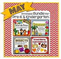May Kindergarten Bundle for all subjects areas: Cinco de Mayo for social studies, Insects and Bugs for science, plus Summer pack. School Nurse appreciation day is in May! Great printable worksheets for morning work! 136 pages. $