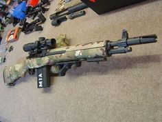 NATO Battle Rifle - multicam has me sold Tactical Rifles, Firearms, Shotguns, Sniper Rifles, Airsoft, Battle Rifle, Fire Powers, Assault Rifle, Assault Pack
