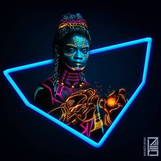 "7,086 Likes, 174 Comments - Aniket Jatav (@aniketjatav) on Instagram: ""53/365 : NEON MARVELS Artwork : 17 - @letitiawright as Princess SHURI . Full brightness…"""