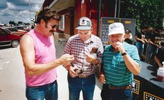 On July 17, 1992, Golden Valley Microwave Foods in Adair, Iowa, handed out free microwave french fries. From left, Dave Kilcoin, Harold Frettim and Milton Engle sample the fries as employees tally the residents' opinions on a blackboard. THE WORLD-HERALD