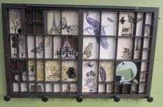 Jewelry Wall Display  from Printer Type Tray. by BizarreIntentions, $165.00