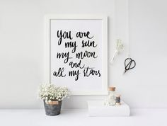You're my Sun my Moon & All My Stars  by designforhandmade on Etsy