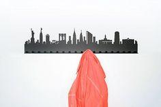 Coat stands racks: City coat rack New York Diy Coat Rack, Coat Hooks, New York, Berlin, Skyline, Wall Mounted Coat Rack, Coat Stands, Joss And Main, Houses