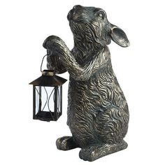 Bought it yesterday. too cute to go outside. He is on the kitchen island! love Bunny Tealight Lantern