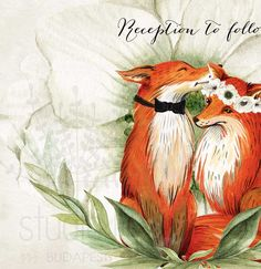 Fox wedding invitation set, Woodland invitation, Fox theme invitation, Printable fox invitation, woodland wedding printable, DIY digital invitation set, **THIS LISTING IS A DIGITAL FILE WITH YOUR PERSONAL DETAILS** no physical item will be sent! You can achieve great results from