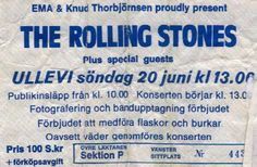THE ROLLING STONES – June 20th 1983, Gothenburg, Ullevi