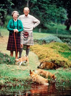 The Queen and Prince Philip at Balmoral, in Scotland, 1994.