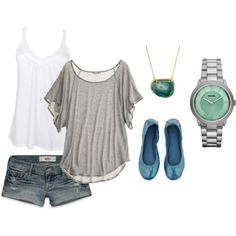Heather Gray and Teal