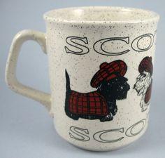 Scottish Terrier Scottie Ceramic Mug Scotland
