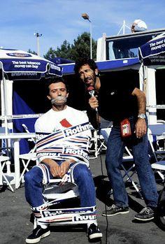 CADALORA MUTO: Andò in onda su Grand Prix proprio così: l'intervista a Cadalora legato e imbavagliato. Eravamo a Donington '92, e Luca, già campione della 250 con due gare ancora da fare, scoprì che la sua squadra aveva appena ingaggiato Biaggi per la stagione successiva. Lì per lì non la prese bene. Disse tutto senza dire niente. Poi si rifece passando in 500 con il team Roberts.