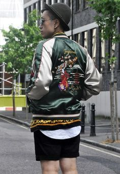 Vintage Japanese Sukajan Silky Bomber Jacket