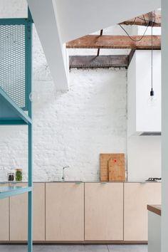 Interior Design Kitchen, Modern Interior, Interior Architecture, Lofts, Minimalist Home, Interior Lighting, Home Remodeling, Villa, New Homes