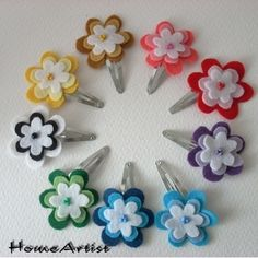 Flowers hair clip - free choice of colours