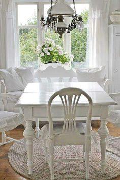 White diningroom