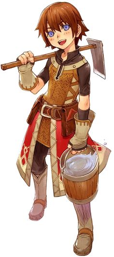Raguna, my favorite playable Rune Factory character.
