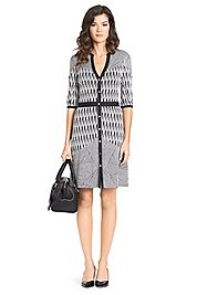 Fiona Printed Silk Jersey Dress